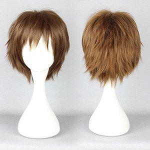 MCOSER Pupa Hasegawa Yume kühlen Entwurf Brown Blonde Boy Short Cosplay Perücke Kostenloser Versand