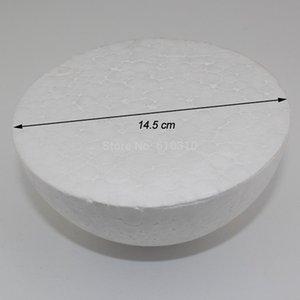 Palla di schiuma di polistirolo bianca naturale di 14,5 cm palla a sfera di pallina artigianale fai da te palla dipinta a mano (16pcs / lotto)