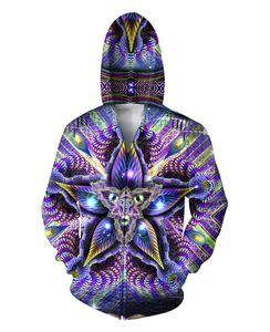 Cerebral Mokasha Double Sided Hoodies  Colorful Geometric Shapes 3D Print Zipper Sweatshirts Jumper For Women Men