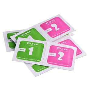 400 adet (200wet + 200dry) Alkol Hazırlık Takas Pad Islak Mendil Antiseptik Cilt için Temizlik Bakım Takı Cep Telefonu Ekran Kağıt