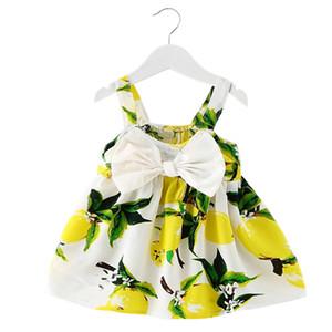 도매 - 새로운 여름 아기 소녀 드레스 유아 소녀 드레스 1 년간 생일 파티 투투 복장 신생아 소녀 옷 세례 아이 옷