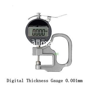 Freeshipping 0.001 ملليمتر الإلكترونية سمك المقياس 10 ملليمتر الرقمية ميكرومتر سمك متر عرض قياس قياس micrometro إخراج البيانات