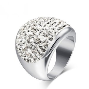 Big Stone Rings Hot sale Austria Crystal Rings for Women Stellux Party Jewelry 6 color RC-003