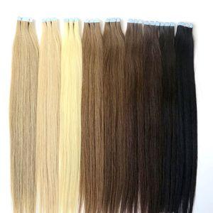 Kalıcı 2years Bant Içinde Har Uzantıları Tam Manikür Remy İnsan Saç Brezilyalı Hint Malezya Perulu Tutkal Cilt Atkı Saç Ürünleri