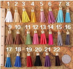 Mix цвет замши кисточкой для брелок мобильный телефон ремни ювелирные изделия подвески 500 шт. кожа ручной кисточкой с металлическими колпачками Diy аксессуары