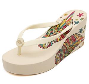 En iyi nakliye yeni Sandalet Çevirme Ultra yüksek topuklu 8 cm plaj terlik yaz takozlar platformu sandalet çevirme kadın ayakkabı