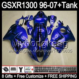 gloss blue 8gift Para SUZUKI Hayabusa GSXR1300 96 97 98 99 00 01 13MY213 GSXR 1300 GSX-R1300 GSX R1300 02 03 04 05 06 07 brilho azul Carenagem