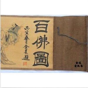 Papel Ilustración Antigua Scroll Cien Pintura Buda Figura Seda MPCBP