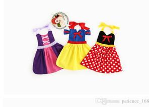 I bambini del bambino di estate di arrivo di stile INS di 3 nuovi bambini vestono il vestito comodo dell'imbracatura di estate del bambino del vestito dalla ragazza della principessa della principessa del cotone 100% trasporto libero