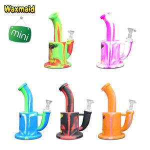Waxmaid Silicone bongos de água 7 polegada Magneto S Mini FDA Aprovado Inquebrável Dab Rigs Barato Tubo para erva e óleo 11 Cores