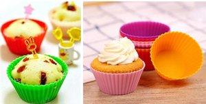 Caldo tondo muffin silicone muffin casi per cupcake ecopasto in silicone alimentare per biscotto uovo crostata in magazzino