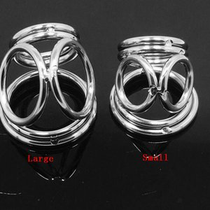 Metal 6 anillos Anillos del pene Acero inoxidable Camilla de metal Dispositivo de castidad bdsm Sex Delay Love ring BONDAGE CBT FETISH MKR914