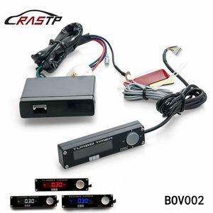 RASTP- de carreras de coches Negro Turbo Timer 0 LED Tipo del LED Digital Display Ajuste para el EVO Sti Wrx RX8 G35 universal RS-BOV002