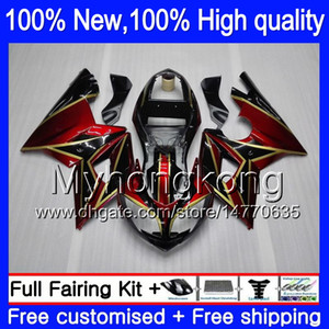 바디 레드 페어링 for Triumph Daytona 600 03 05 650 03 04 05 Daytona600 6MY0 Daytona650 Daytona 650 600 Red golden 2003 2004 2005 페어링