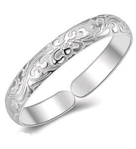 Fine Silver Bangle 999 Sterling Silver Sólido Modelos Femeninos Completos Pulsera Clásica para Mujeres Cumpleaños con caja de Regalo