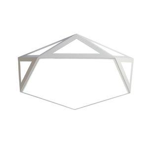 OOVOV 18W LED الاكريليك هندسة السقف مصابيح غرفة نوم غرفة الطعام مصباح السقف مصباح 16 بوصة