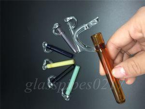 nueva moda LABS CONCENTRATE TASTERS baratos Mini pipas de cera pipas de fumar de vidrio a mano Pipas de tabaco para pits de plataformas petrolíferas de vidrio