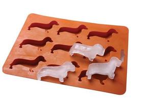 Nuevo Ice Cream Mould Cube 9 Small Dog Shape Silicona de Grado Alimenticio Bandeja de Hielo Fruit Ice Cube Maker Bar Kitchen Cooking Tool Accessories