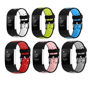 Fitbit Şarj 2 Bant, Ayarlanabilir İki Renk Fitbit Şarj 2 Smartwatch Spor Bileklik FC0108 için Yedek Spor Kayış Bantları