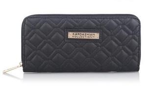 Heißer Verkauf Kk Brieftasche Lange Design Frauen Geldbörsen Pu-leder Kardashian Kollektion High Grade Clutch Bag Reißverschluss Geldbörse Handtasche
