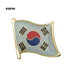 Бесплатная доставка Южная Корея Металлический Флаг Значок Флаг Pin KS-0074