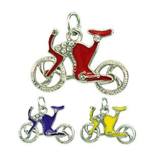 JINGLANG мода спорт подвески мотаться 3 цвета эмали горный хрусталь велосипед подвески DIY подвески для изготовления ювелирных изделий аксессуары