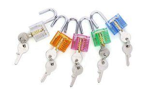 Ücretsiz Renkli Şeffaf Görünür Kesit Asma Kilit Kilit Çilingir Uygulama Eğitimi Için Pick kapı açacağı oto pick
