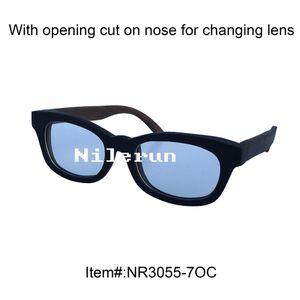 wooden frame clear plain glasses