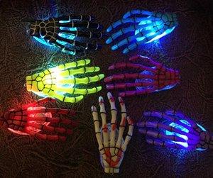 Moda İskelet Pençeleri Kafatası El Saç Klip Firkete Zombi Yaratıcı Cadılar Bayramı Dekorasyon Oyuncaklar Yanıp Sönen LED Saç Klip El Kemik Firkete