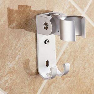 Livraison Gratuite Aluminu Handheld Shower Holder Handheld Shower Holder Robinet Salle De Bains Accessoires avec Crochets Mural Monté En Gros et Au Détail