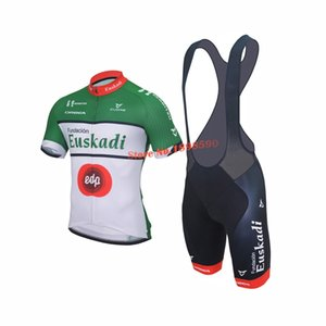 NUOVO Customized 2017 Euskadi CLASSIC mtb road RACING Team Bike Pro Cycling Jersey Set Bianco Bib Shorts Abbigliamento Respirazione Aria JIASHUO