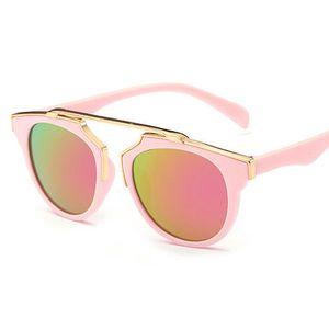 Çocuklar Vintage Güneş Erkek Güneş Gözlükleri Çocuk Gözlükler Çerçeve kız Sevimli UV400 Güneş yaz Çocuk plaj gölge aksesuarları T4780