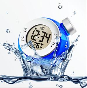 Nouveau Creative Eau Alarme Réveil Magique Respectueux de L'environnement Forme de Balle Smart Clock avec Thermomètre Maison Décoration
