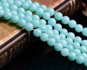 Natural Stone Aqua Amazonite Round Loose Beads Strand 4mm Size for Jewelry Making Diy Beautiful Beads Christmas Gift