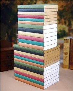 26x19cm 크래프트 논문 노트북 사무실 학생은 책 120 매 저널 노트 패드 유제품 책 드로잉 스케치 빈 책 8 색 커버 노트