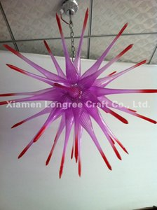 Cristal Modern Art Decor vidro fundido Chandelier Estilo Wedding Decor Hand Blown Lâmpadas Pingente de vidro