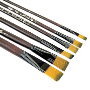 6pcs set Different Shape Nylon Hair Paint Brush Set Gouache Watercolor Oil Painting Brush Set Acrylics Art