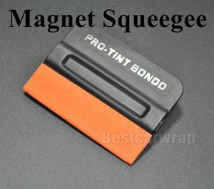 2017 Pro Tönung Bondo Rakel Suede Rand MAGNETIC Aufkleber Aufkleber Vinyl Auto Wrap Applikator Werkzeug Mit Magneten 50 teile / los Dhl-freies verschiffen