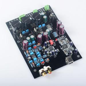 Livraison gratuite Assemblé XMOS U8 + AK4495SEQ + AD827 LT1963 USB carte décodeur DAC Supporte 32BIT 768K LT1963-3.3 carte amplificateur audio