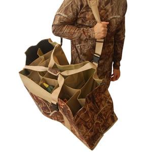 12 Slot Duck Decoy Bag com Alça de Ombro Ajustável Acolchoado Slotted portadores de chamariz para Duck Goose Turquia Caça Acessórios