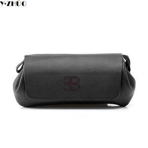 Atacado saco de design de couro enuine de alta qualidade original de negócios homens casuais embreagem saco de couro handbags longo carteiras bolsas