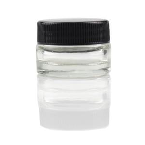 5ml de récipient de verre de cire de récipient non-bâton en verre de catégorie comestible 5ml Dabber de récipient de concentré d'herbe sec de Dabber c cigarettes huile épaisse