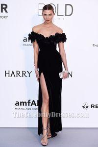 Neue Ankunft Karlie Kloss Schwarz Off-the-Shoulder-Abendkleid 2017 Celebrity Dresses Günstige Abendkleider