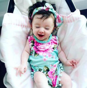 Bebê recém-nascido menina roupas Floral macacão de verão sem mangas crianças de alta qualidade Macacão bonito roupas roupas roupas