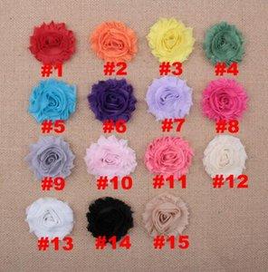 vendita all'ingrosso Mini fiore tessuto fiore senza fermagli per capelli, fiore singolo senza fascia, accessori per capelli bambino YH468