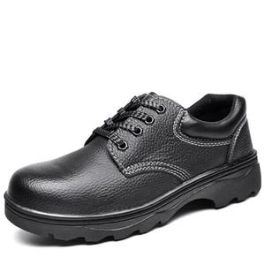 Tüm boyut Yüksek Kaliteli su geçirmez deri erkek Açık güvenlik ayakkabıları yürüyüş Avcılık ayakkabı çelik ayak cap Upstream ayakkabı