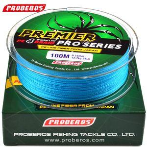 Q0205 100 м леска красный / зеленый /серый/желтый / синий плетеный лески доступны 86LB-100LB PE линия зеленый пакет