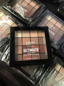 2021 حار عيد الميلاد NYX Ultimate Eyeshadow Palette 16 اللون الدافئ محايد ماتشيمر ظلال العيون مصطبح مسحوق ماكياج لوحات السفينة حرة