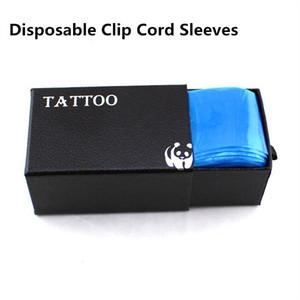 Wholesale-100 / box يمكن التخلص منها الوشم كليب الحبل الأكمام أكياس لمجموعة الوشم بندقية الحبر