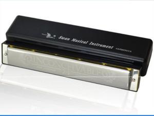 Toptan C 24 Delikler Tremolo Harmonica Enstrüman Ile Krom Kaplama Anahtar Durumda Ücretsiz Kargo